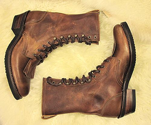 packerboots, sendra, brune boots, snøring,