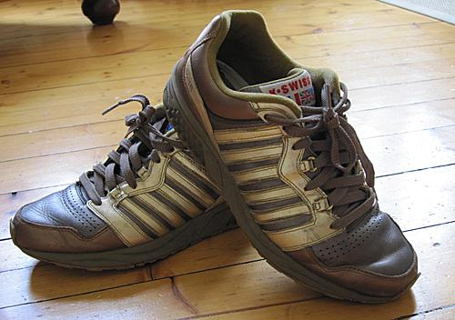 K-Swiss sneakers joggesko trainers gull bronse